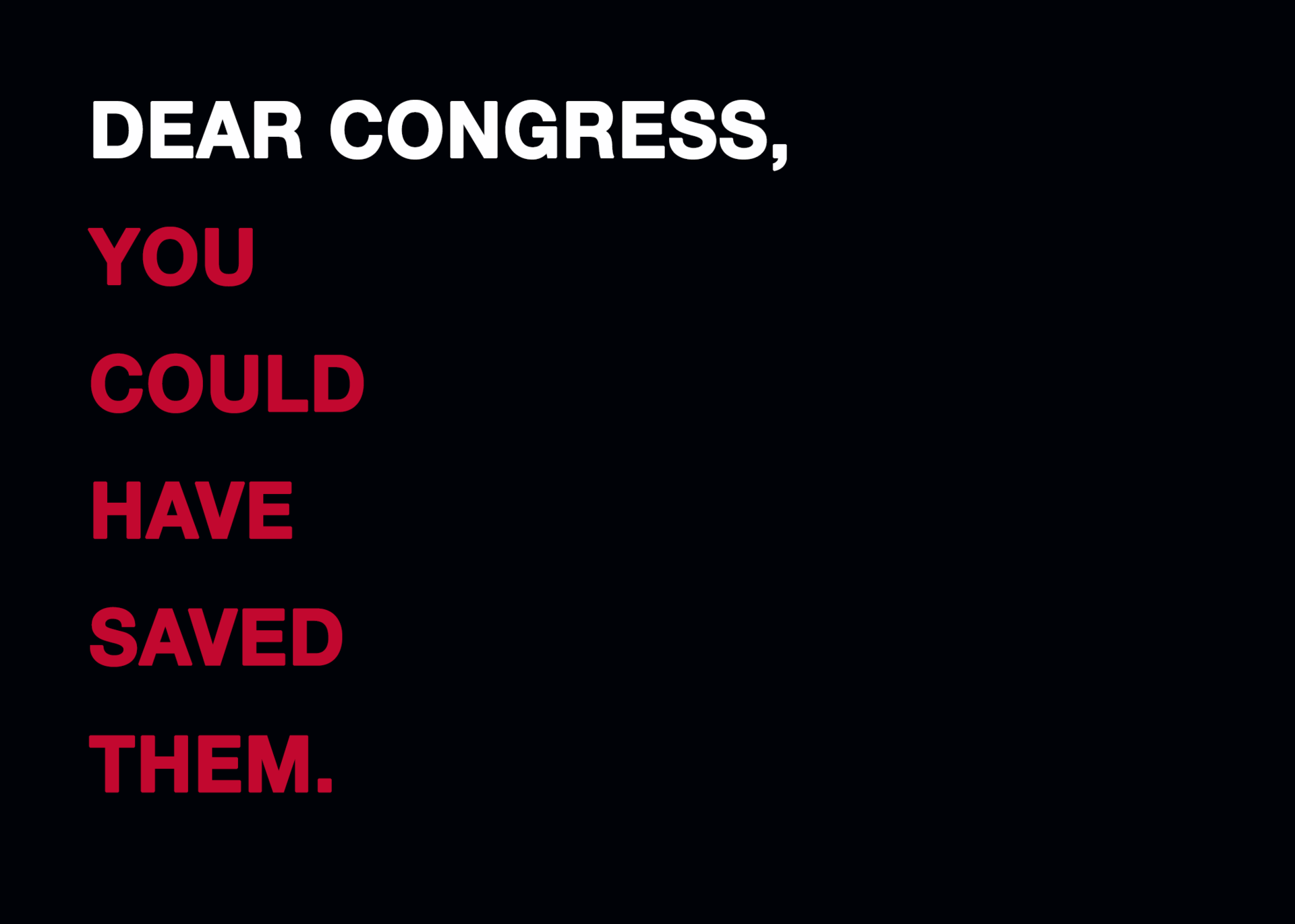 DEAR CONGRESS - The Fight for Gun Control Store